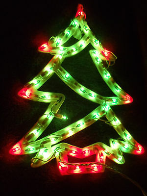 Lighted Christmas Holiday Decor Tree Window Wall Silhouette Decoration