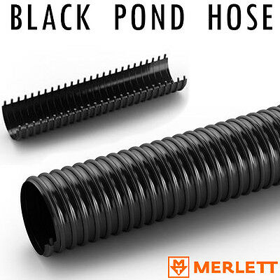 Black Corrugated Flexible Pond Hose | Tube | Fish Marine | Next Day Delivery