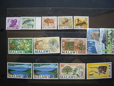Malawi; Post-Independence set - incl. both 5/-;  Mint