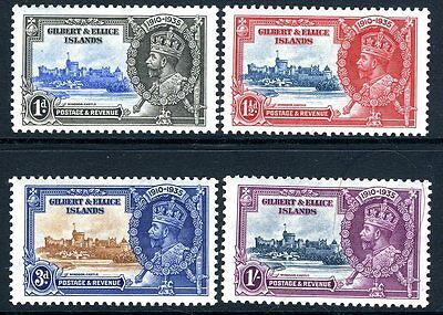 GILBERT & ELLICE ISLANDS-1935 Silver Jubilee Sg 36-9  MOUNTED MINT V13902