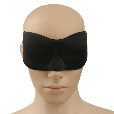 3D Black Double Cotton Sleeping Eye Mask Shade Blindfold Relax Sleep Cover