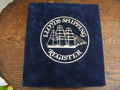 18 RING BINDER 33 SILK COVERS 250th ANNIV LLOYDS SHIPPING REG LTD ED No177of 500
