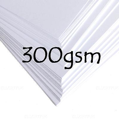 A4 A5 WHITE THICK CARD BLANKS STOCK CRAFT HOBBY WEDDING DECOUPAGE PRINTER 300gsm