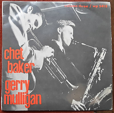 """Chet Baker And Gerry Mulligan - Bernie's Tune /lullabay Of The Leaves -7"""" Ep Ita"""