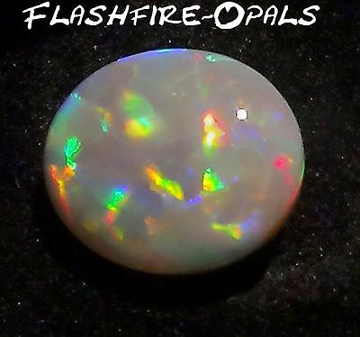 5.9ct AUSTRALISCHER GEM DARK OPAL BRILLIANTE BLOCK PATTERN+Video FLASHFIRE-OPALS