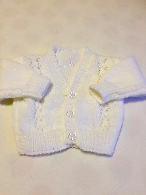 Baby Girls Clothes Newborn  -  Lovely Hand  Knitted Sparkly Cardigan -