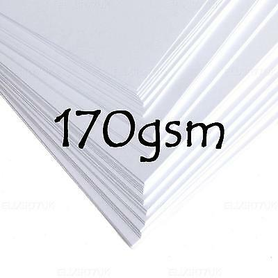 A4 A5 A6 WHITE THIN CARD BLANK STOCK CRAFT MAKING WEDDINGS PRINTER PAPER 170 gsm