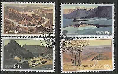 SOUTH WEST AFRICA 1981 Sc#471-4 FISH RIVER CANYON USED 0541