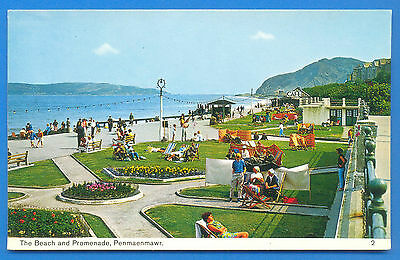 The Beach And Promenade,penmaenmawr.postcard