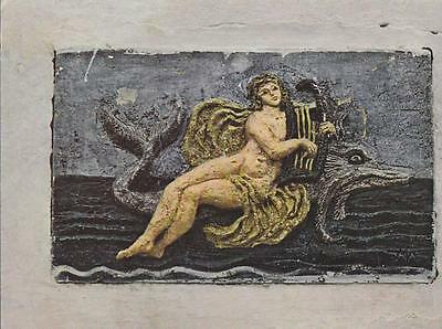 Postal (PostCard) 61809 : Hydra - Painted Ceramic with relief mythological...