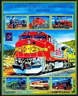 Guinee MNH SS, Belgica 2001, Railways, Engines, Train - A89