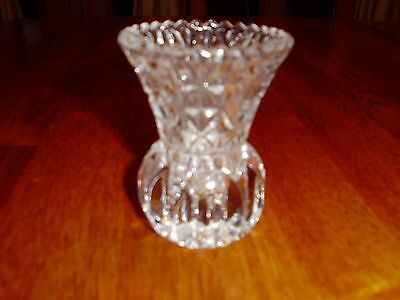 Vintage 24% Lead Crystal Starburst Glass Toothpick Holder
