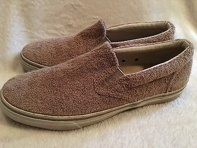 Men's Sperry Top-Sider Tan Size 10 Medium Boat Shoes Loafers Slip On