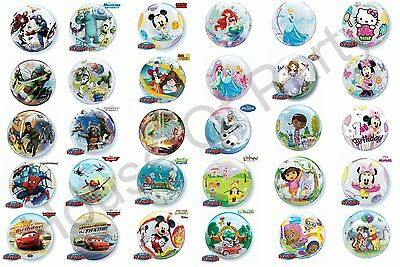 """Character Licensed Bubble Balloons 22"""" Disney Party Decoration Frozen Mickey"""