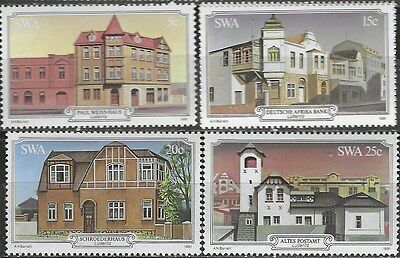 SOUTH WEST AFRICA 1981 Sc#479-82 HERITAGE BUILDINGS COMPLETE MNH SET 0987