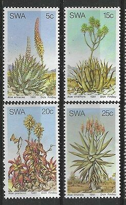 SOUTH WEST AFRICA 1981 Sc#475-8 ALOES COMPLETE MNH SET 1690
