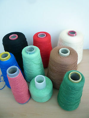 Bundle Of Part Used Yarn Cones Marked 'silky' - Machine/hand/crafts