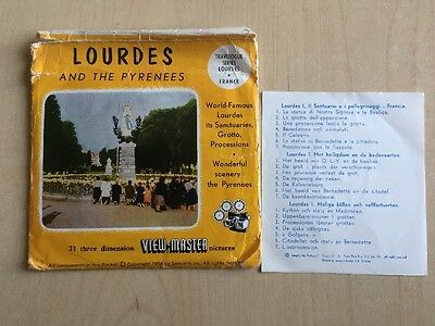 viewmaster reels, Three Reels, LOURDES And The Pyrenees