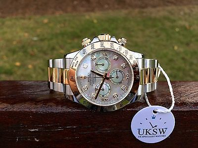 Rolex Daytona Steel & 18ct Gold – Diamond MOP Dial – 116523