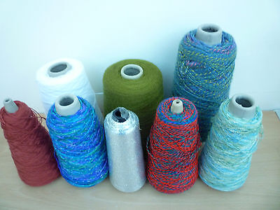 Eight Assorted Part Used Yarn Cones