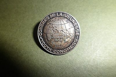 Youth Congress badge Geneve 1936  Lot 633