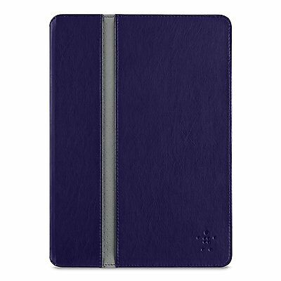 Belkin iPad Air 1 FormFit Folio Cover Case & Stand Auto On/Off Blue/Grey