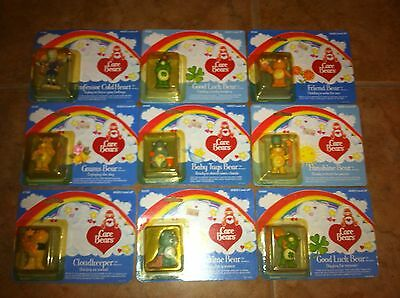 1984 Kenner Care Bears Pvc Miniatures Lot Of 9 Moc