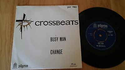 """THE CROSSBEATS Busy Man V Rare 1960s Psych Beat Groover 45 7"""" Near Mint Picslv"""