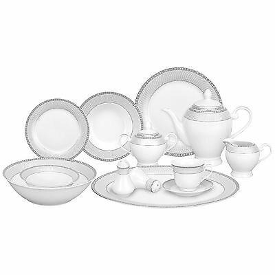 Lorren Home Trends Alina 57 Piece Porcelain Dinnerware Set LHT1240