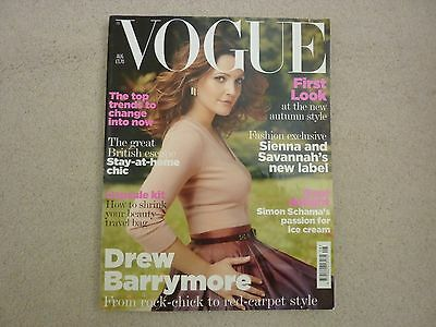 Vogue UK Magazine August 2007  Drew Barrymore Cover