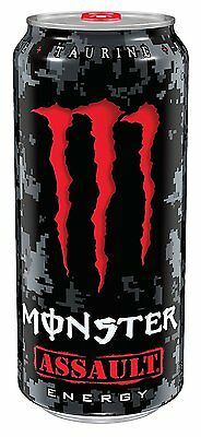 Monster Energy Drink, Assault, 16 Ounce Pack of 24