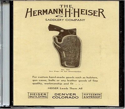 Hermann H. Heiser Leather Catalog No. 23 on CD - Holsters, Scabbards, Belts more