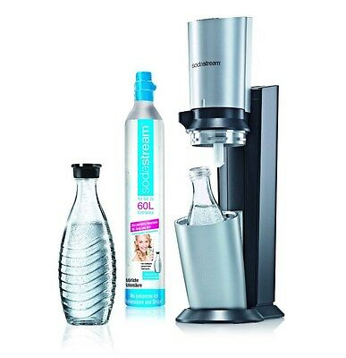 sodastream crystal titan silber 2 glas karaffe eur 89 99 picclick de. Black Bedroom Furniture Sets. Home Design Ideas