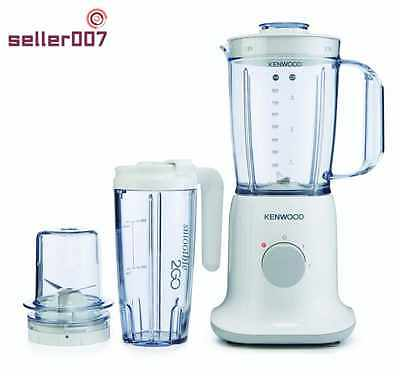 Kenwood Electric Blender 3 In 1 With Grinder And Smoothie 2GO 1L White Kitchen U