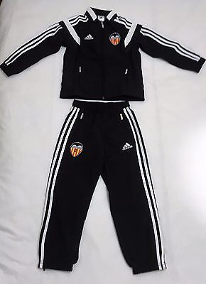Valencia Black Presentation Suit By Adidas Size Boys Size 11-12 Years Brand New