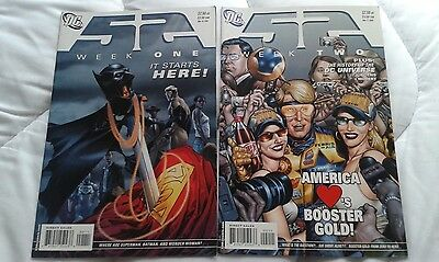 FIFTY-TWO weeks one and two / 52 #1 #2 DC Comics Grant Morrison Waid Johns