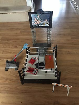 Wwe Wrestling Bundle Play Set Inc Ring Plus Lots Of Accessories