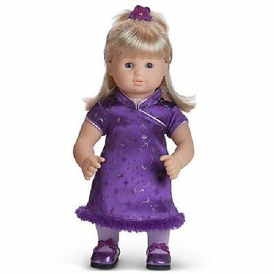 AMERICAN GIRL Bitty Twins Pretty Plum Outfit New In AG Bag!