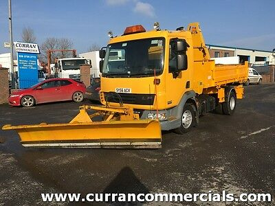 2007 Daf LF45.140 7.5 ton tipper/ gritter/ snow plow with dropsides