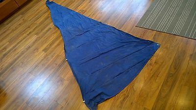 Small Blue Dinghy Jib, Sail 13Ft X 5Ft..no Reserve