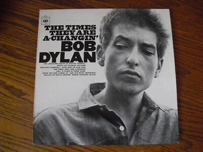 Bob Dylan Vinyl LP Album 'The Times They Are A-Changin'' CBS Records S CBS 32021