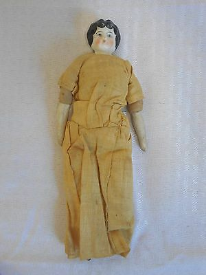 Bisque Porcelain Doll with Muslin Body Antique Handmade UNIQUE ChildrensToy