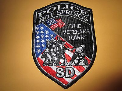 Collectible South Dakota Police Patch Hot Springs New