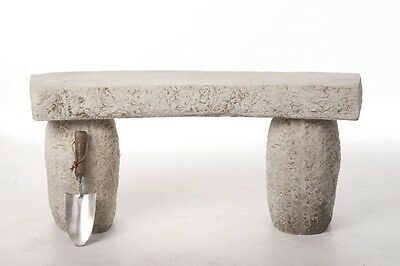 Stunning Solid Stone Cast Carved Garden Patio Bench Seat
