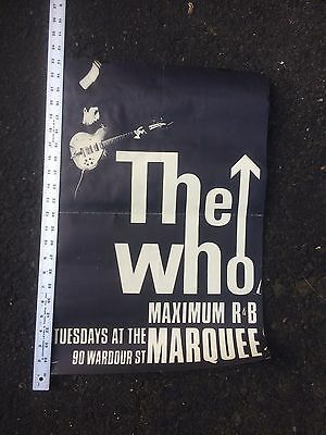 THE WHO 1966 Max R & B Marquee Concert Poster Fold Out