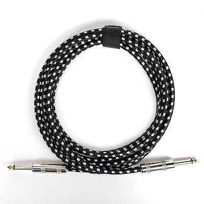 Donner 3m/10ft Premium Electric Tweed Cable for Guitar Bass 1/4 Free Shipping