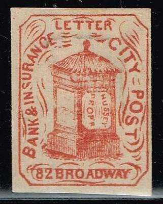 Usa Stamp  -Local- Hussey's  City Post Reprint Stamp Unused