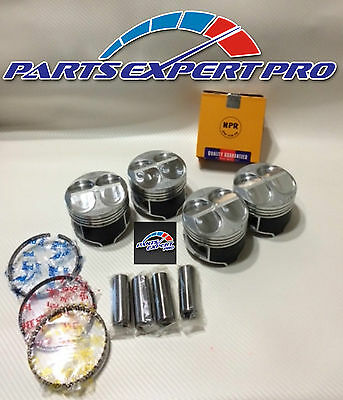 Ycp 82Mm High Compression Pistons & Rings Acura Integra Civic Si Type R B16 B18