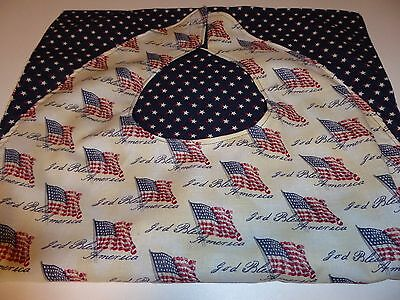 """Adult Bibs / cover-ups for adults, seniors, disabled/ bibs; """"GOD BLESS AMERICA"""""""