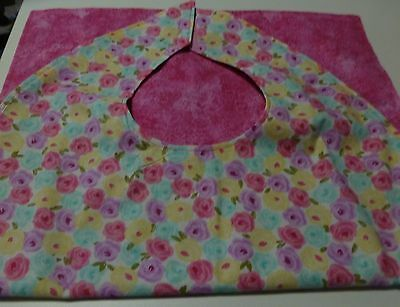 Adult Bibs / cover-ups for adults, seniors, disabled/ bibs; Spring Color Roses